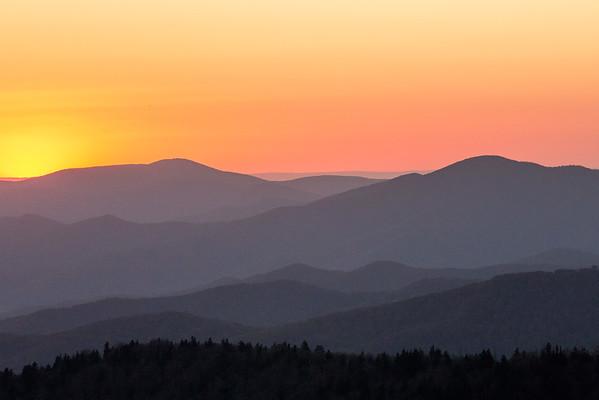 Clingmans Dome sunset