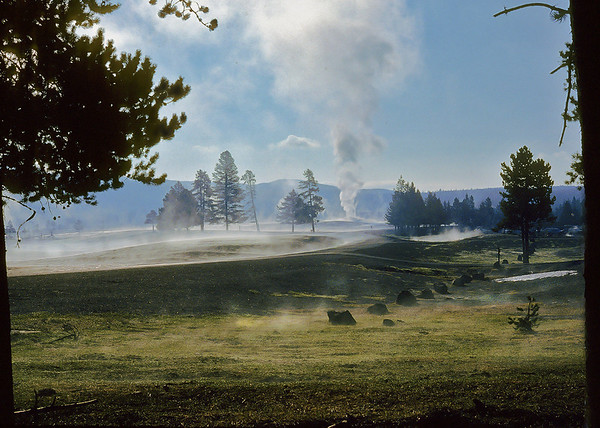 This is an old picture I took of Yellowstone, but I still think it evokes the feeling of the park.