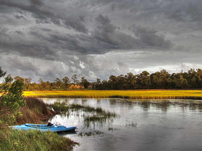 Storm breaking over a North Carolina Marsh. 2012