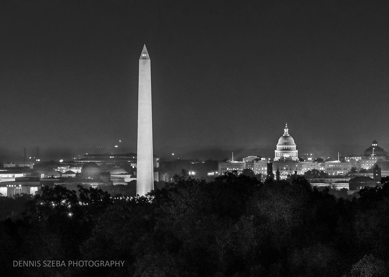 Washington DC from Ft. Myer, near Arlington National Cemetery.