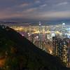 Victoria Peak Trail and Hong Kong (long exposure)