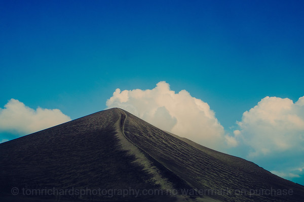 Vanuatu, Tanna, Mt Yasur Volcano, Blue Sky