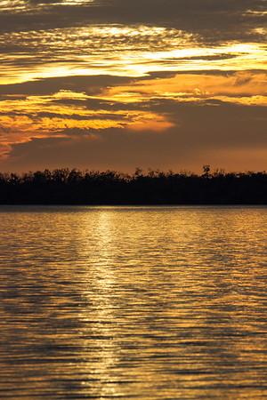 Golden Florida sunset