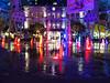 Singapore fountain at night