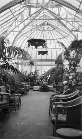 Conservatory at the Empress Hotel, Victoria, B.C., Canada. 1930s.