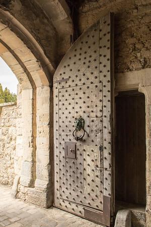 Castle gatehouse door
