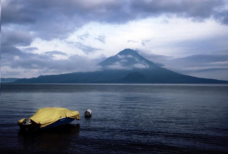 Volcano on the lake