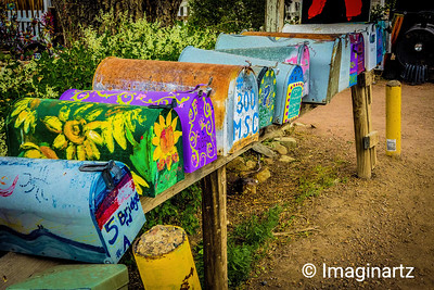Colorful Mailboxes on the Turquoise Trail, Madrid, NM