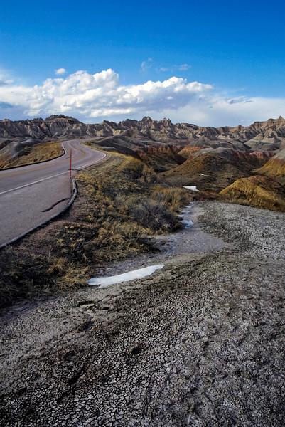 Badlands NP, South Dakota One of the many painting like roadside landscapes of the Badlands.