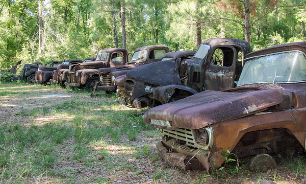 Rusting relic lineup