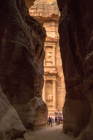 Treasury view from the Siq