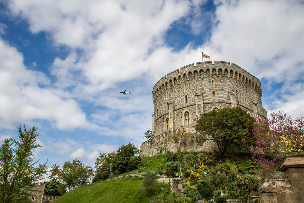 Plane Over Windsor Castle