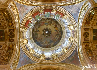 The great dome of St. Isaac's Cathedral in St. Petersburg, Russia.