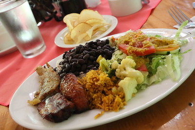 Costa Rican meal, Sarapiquí, Costa Rica