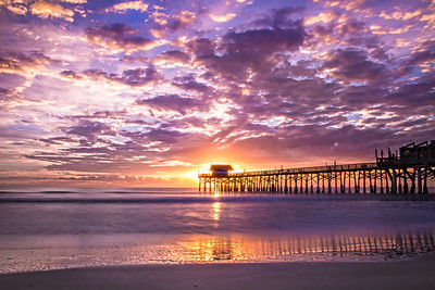 Sunrise Over Cocoa Beach Pier, Florida
