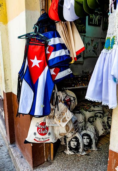 Souvenir shop in old Havana, Cuba
