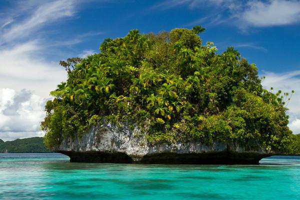 Limestone islet