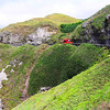 Zigzag roads along cliffs in Batanes