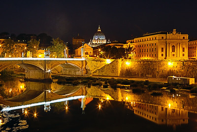 Vatican City from the Ponte Sant'Angelo, Rome, Italy