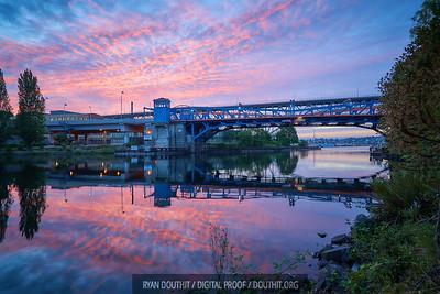 Fremont Bridge at Sunrise