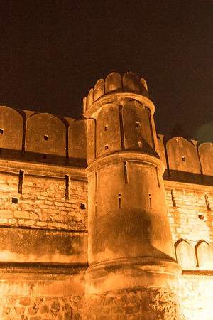 Wall tower at the Yadavindra gardens