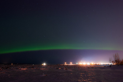 Aurora Over Anchorage Harbor