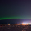 Aurora Over Anchorage Harbor