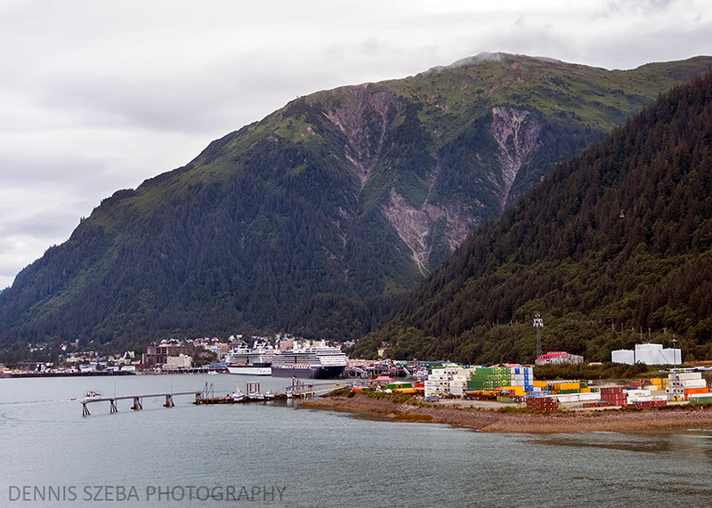 Juneau, Alaska. Like several coastal cities, it is dwarfed by the  surrounding mountains. 2018