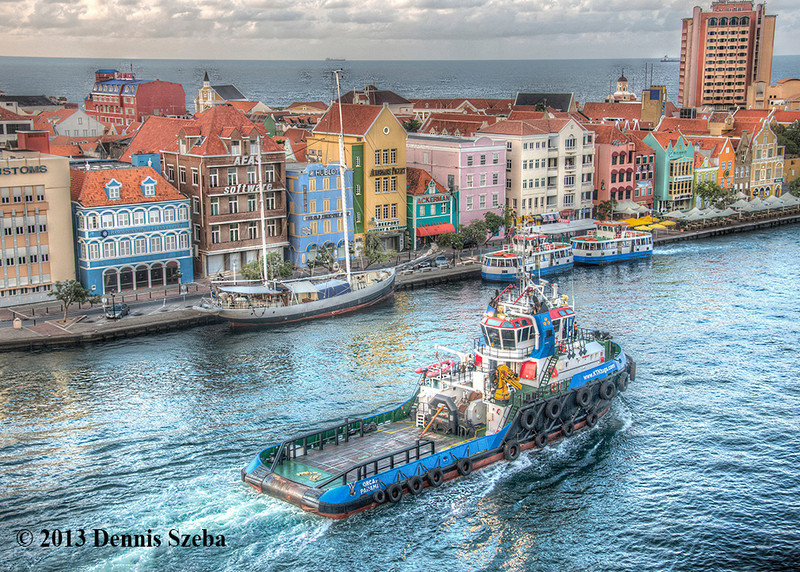 Even on an overcast day, Willemstad, Curacao is one of the most colorful cities in the world.