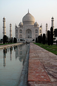 Agra, India One of the few sanctuaries in Agra.  The taj mahal and the surrounding garden of Eden are kept in immaculate condition.