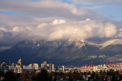 Winter view of Vancouver city, Canada