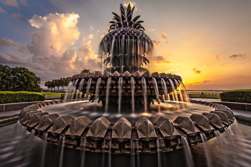 Pineapple Fountain, Charleston