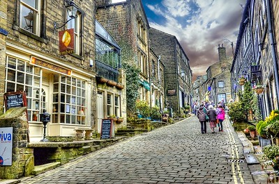 A  (HDR) Image of Main Street, Haworth, Yorkshire.