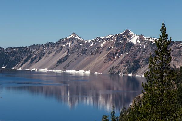 Steep cliffs at Crater Lake