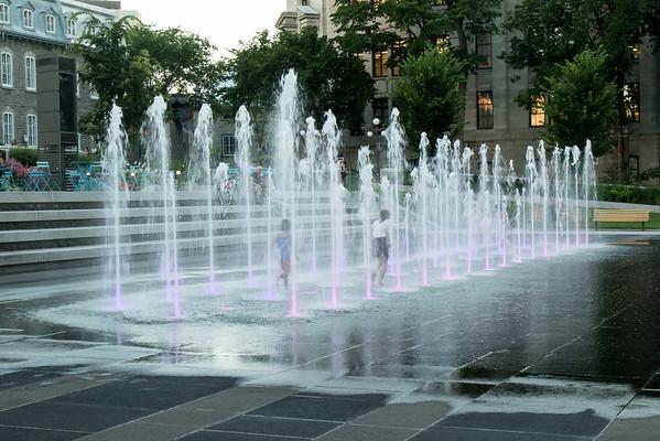 Quebec City fountain