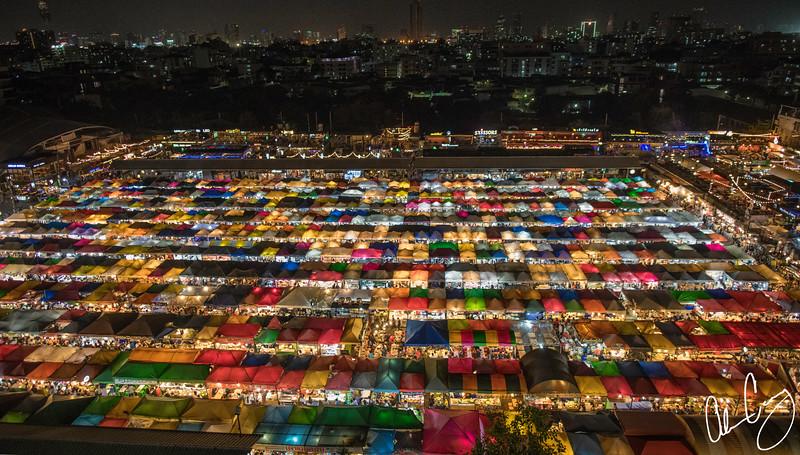 ratchada night bazaaar - bangkok, thailand.