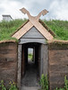 Sod house entrance