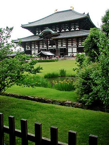 Nara, Japan Todaiji Temple in Japan. Housing one of the biggest bronze Buddhas in the world at 15 meters tall.