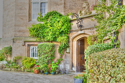 Entrance to Leasowe Castle, Wirral, Cheshire, UK