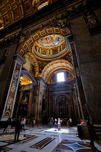 Inside St. Peter's Basilica in Vatican City, Rome