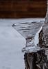 Martini glass made of ice