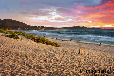 Sunset at Carmel Beach, California