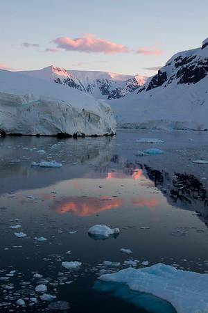 Antarctica sunrise