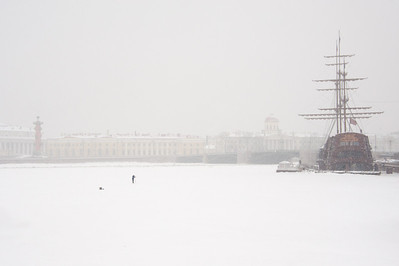 Neva River (with fisherman)