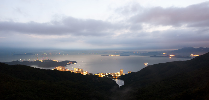 Hong Kong Shore From Victoria Peak (long exposure)