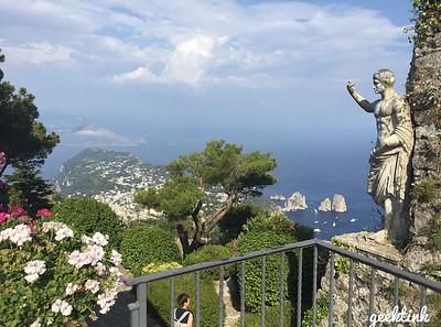 The peak of Monte Solero on Capri Island in Italy.