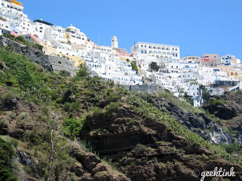 The Hillside of Homes in Santorini, Greece