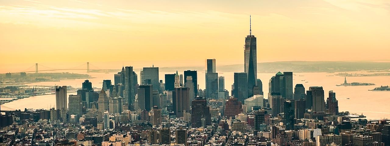 Lower Manhattan viewed from Empire State Bldg