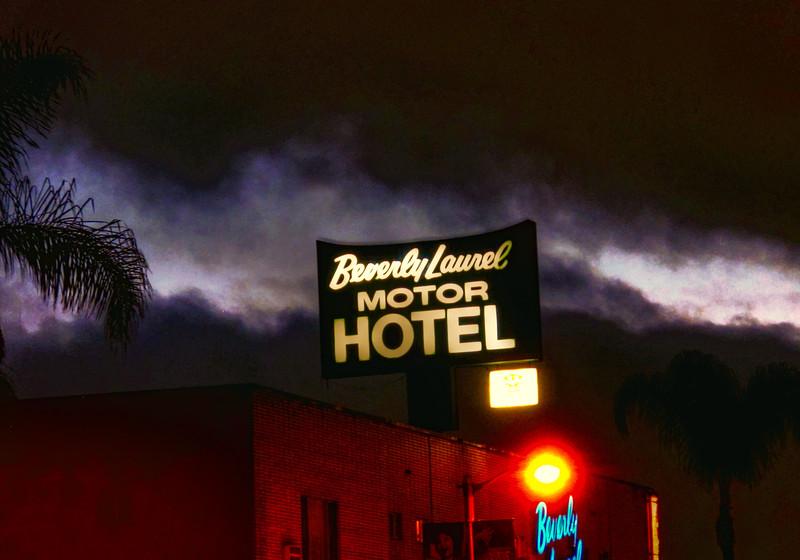 Motel in Hollywood, California.