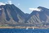 Whale spouts near West Maui mountains